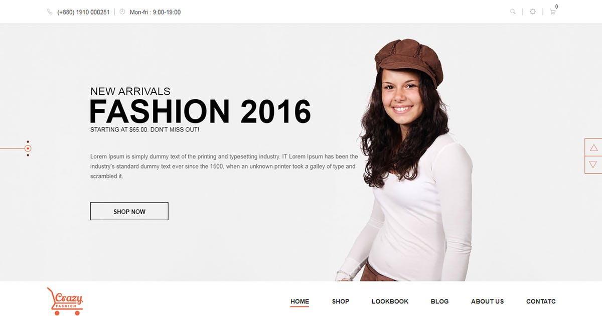 Download Crazy Fashion - Shopify Responsive Theme by codecarnival