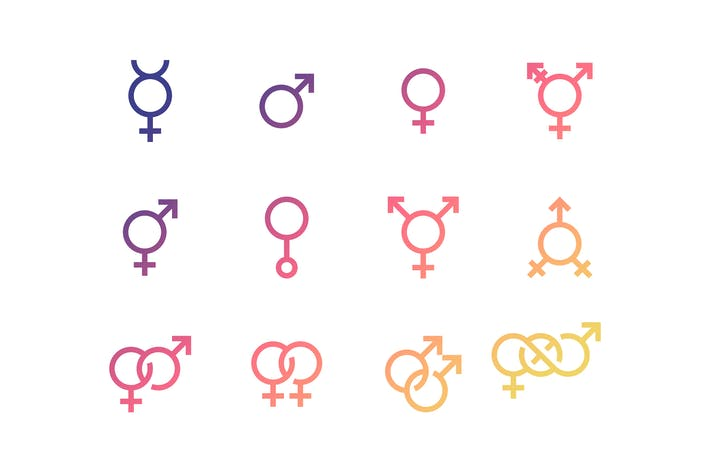 Thumbnail for Gender and sexual identity set