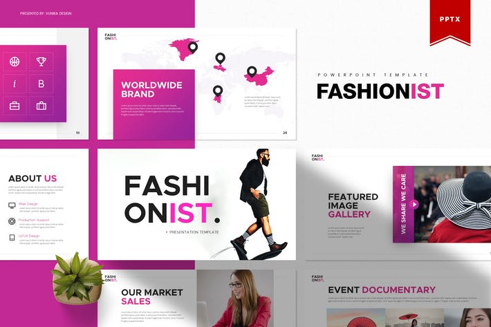 Thumbnail for Fashionist | Powerpoint Template
