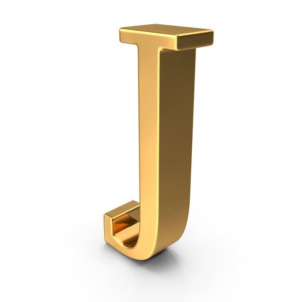 Золотая заглавная буква J