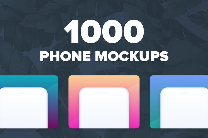 Thumbnail for 1000 Phone Mockups For Presentations