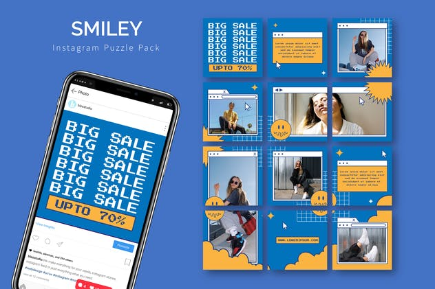 Smiley - Instagram Puzzle Template