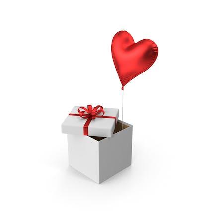Red Heart Balloon Box