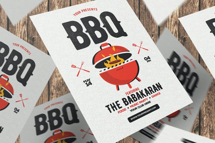 Thumbnail for BBQ Party Flyer