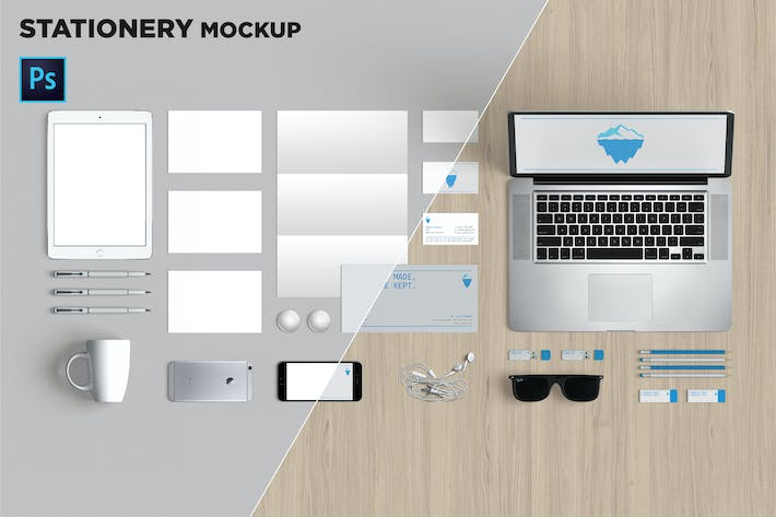 Thumbnail for Brand Identity / Stationery Mockup 04