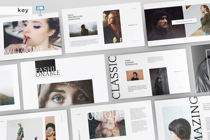 Thumbnail for FASHIONABLE - Multipurpose Keynote Template V143