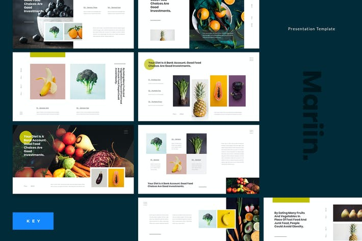 Thumbnail for Mariin - Healthy Diet Keynote Template