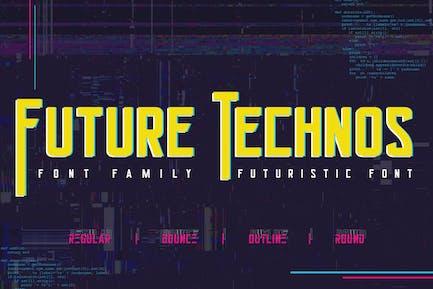 Future Technos Cyber Futuristic Font