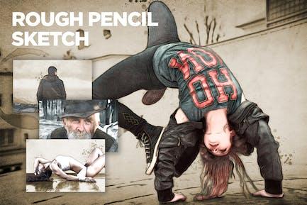 Rough Pencil Sketch CS3+ Photoshop Action