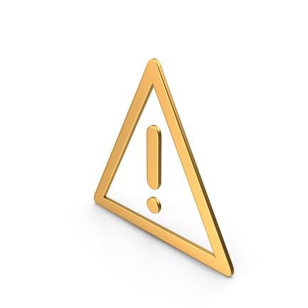 Dreieck Warnschild Gold