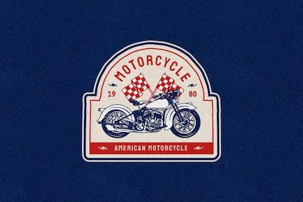 Vintage Motorcycle Logo Badge