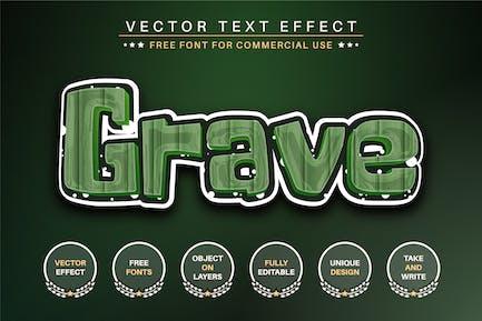 Grave - Editable Text Effect, Font Style