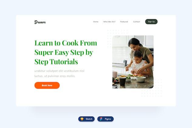 Food Website Header Design