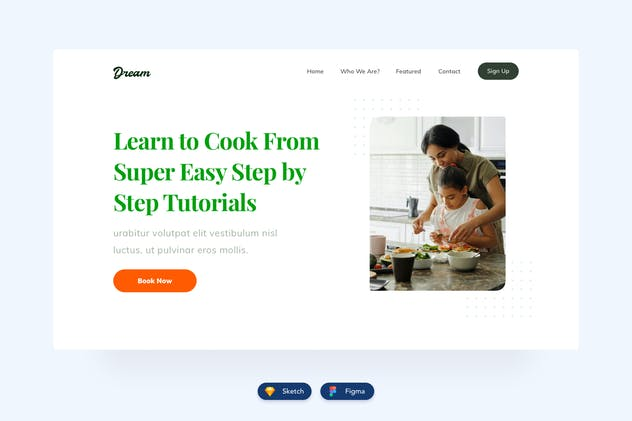 Food Website Header Design - product preview 0