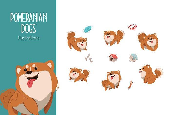 Thumbnail for Поморские собаки Ииллюстрации