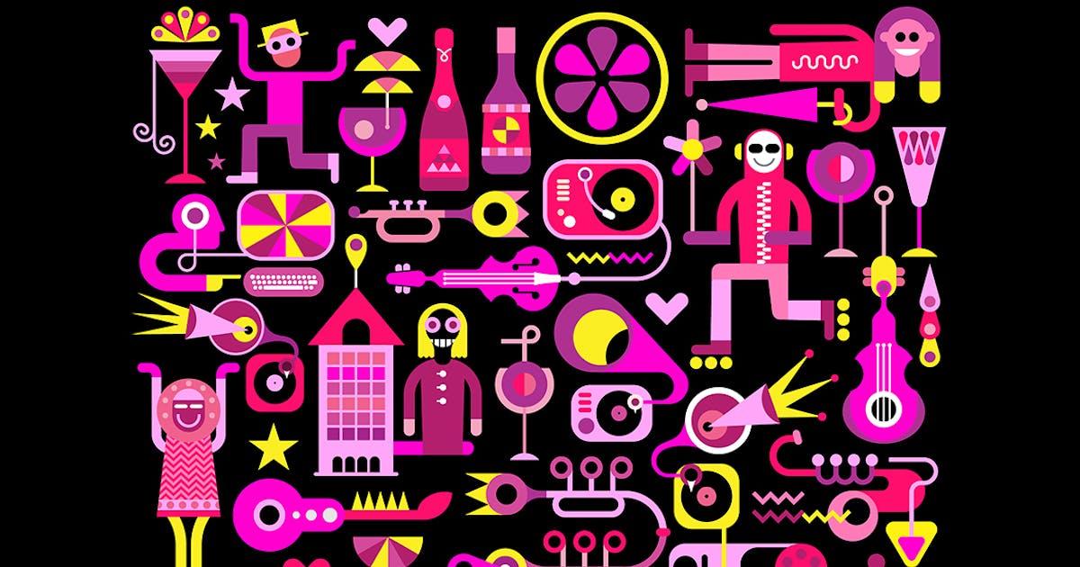 Download Festive City Vector Illustration (horizontal) by danjazzia