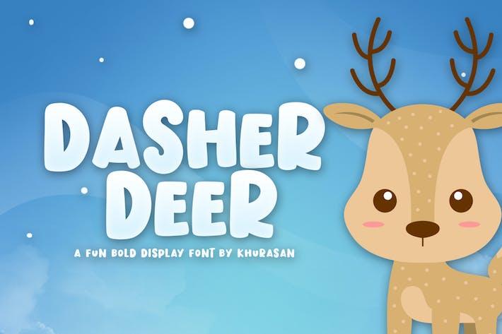 Thumbnail for Dasher Deer Font