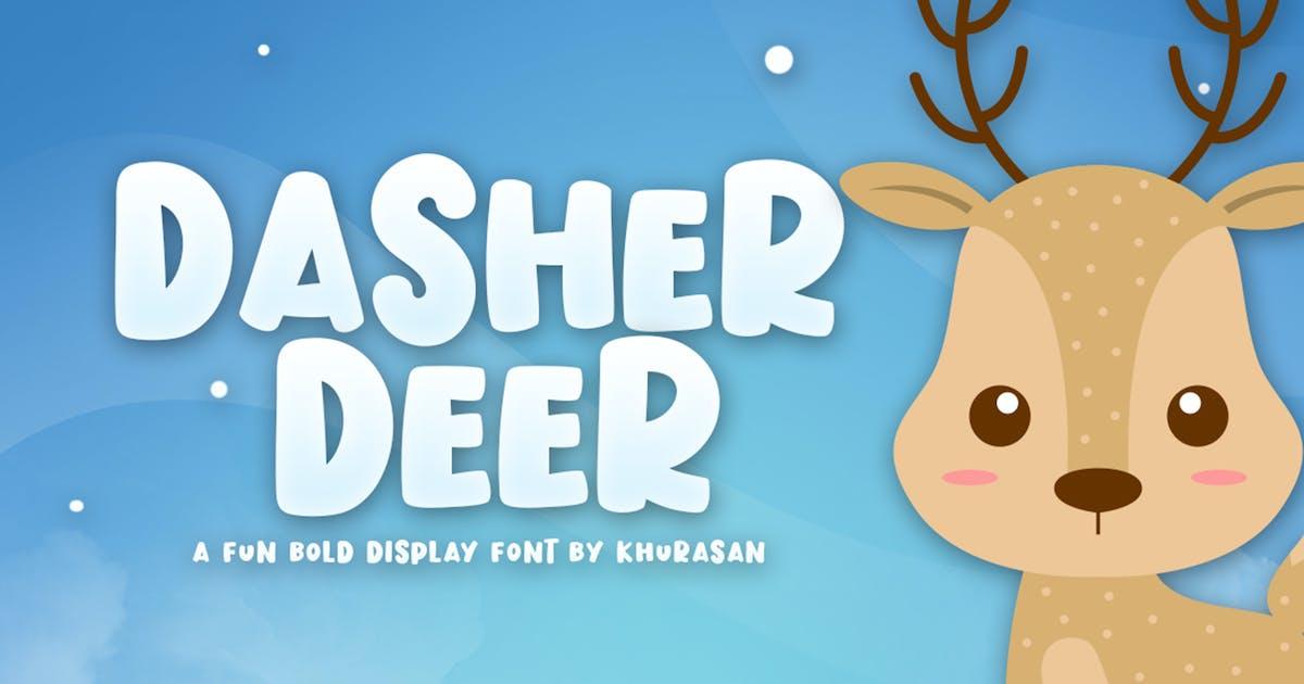 Download Dasher Deer Font by khurasan