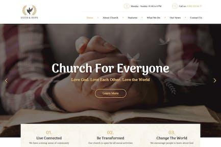 Faith & Hope | A Modern Church & Religion WordPre