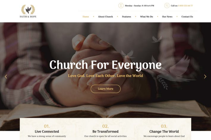 Thumbnail for Glaube & Hoffnung | Eine moderne Kirche & Religion WordPre