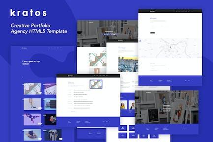 Kratos - Creative Portfolio Agency Template