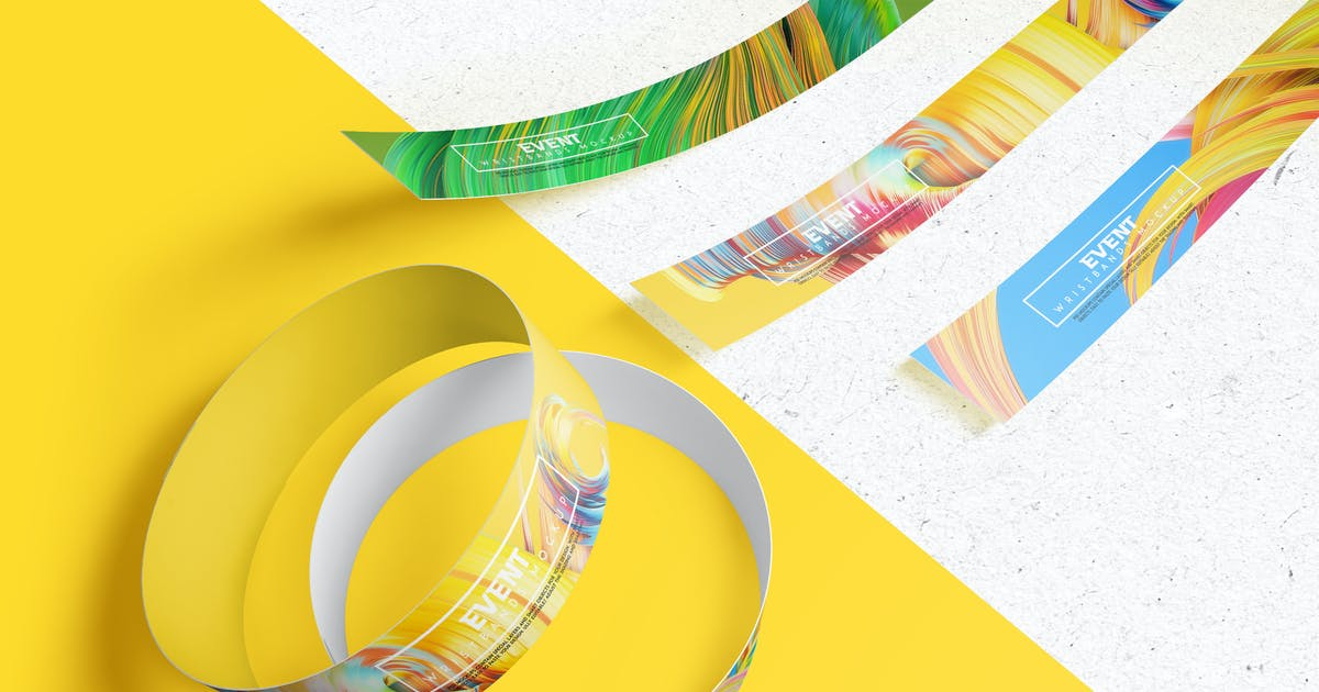 Download Event Wristbands Mockup by Wutip
