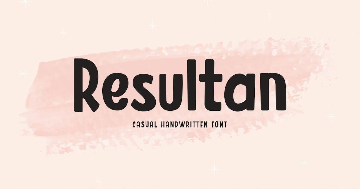 Download Resultan - Handwritten Font by axelartstudio