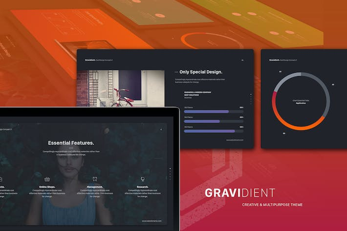 Thumbnail for Gravidient Simple Keynote Template
