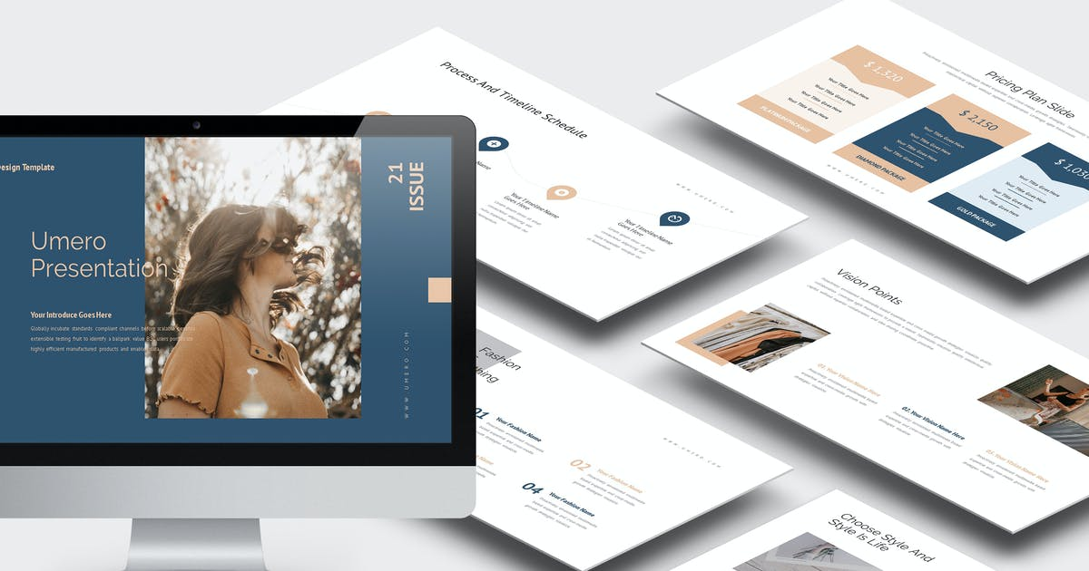 Download Umero : Fashion Influencer Business Powerpoint by punkl