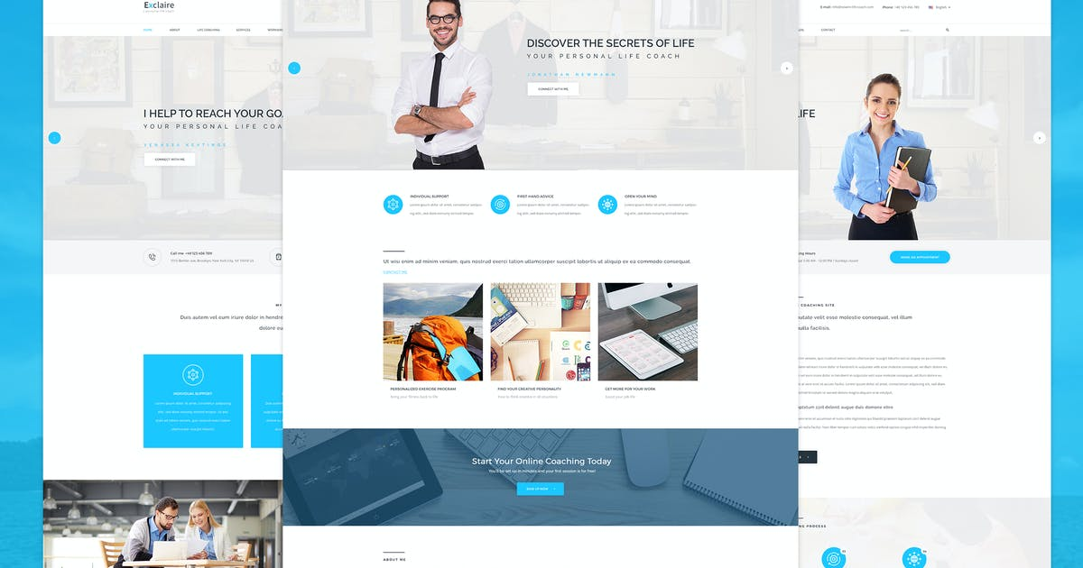 Download Exclaire - Personal Life Coach PSD template by Unknow