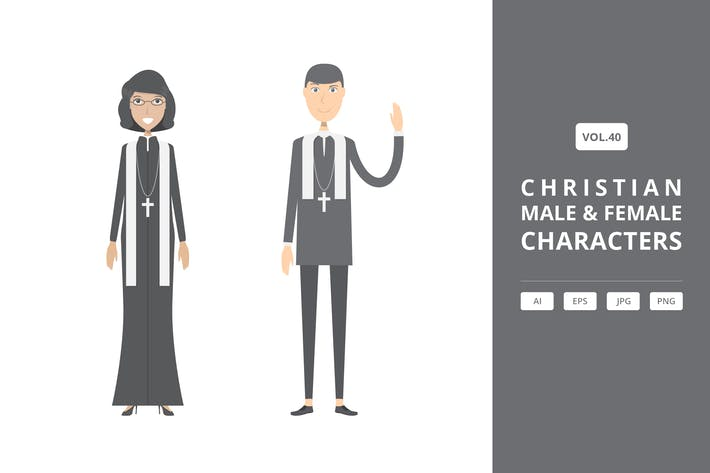 Thumbnail for Christian - Male & Female Characters Vol.40