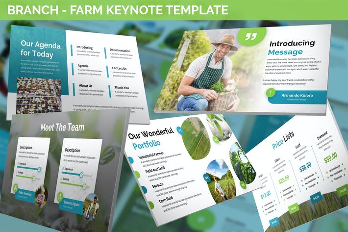 Branch - Farm Theme Keynote Template