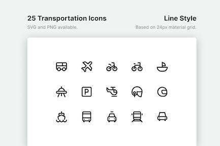 Icons für Verkehrslinien