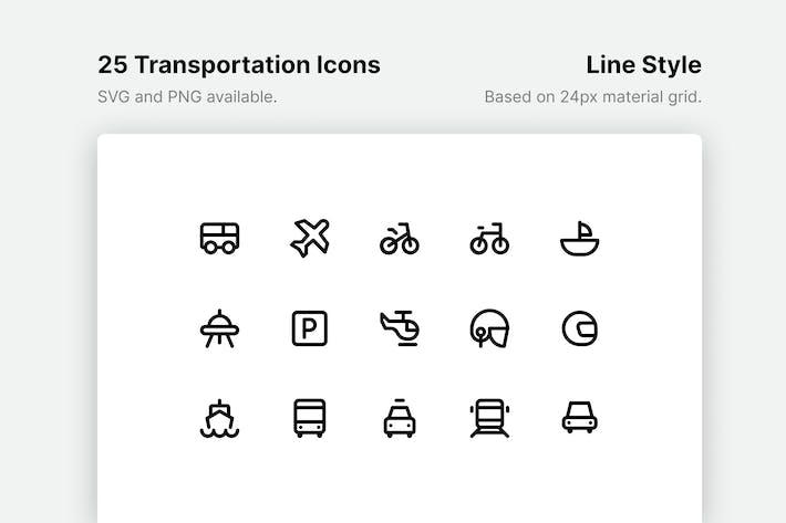 Thumbnail for Transportation Line Icons