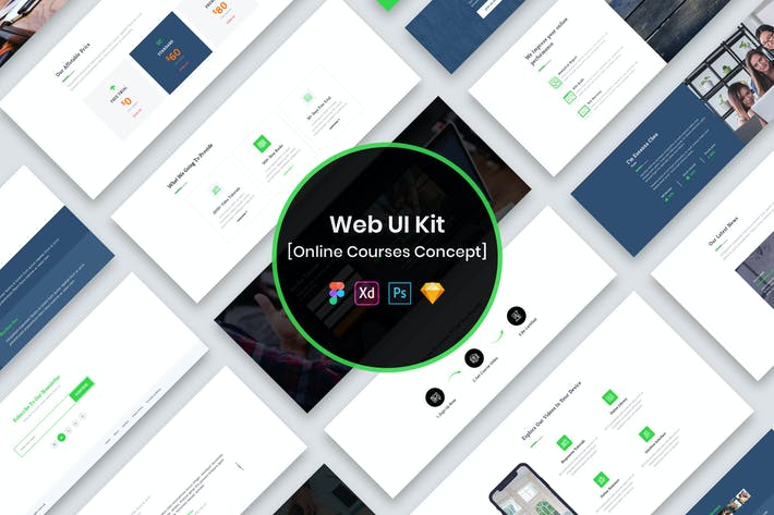 Thumbnail for Online Courses Web UI Kit