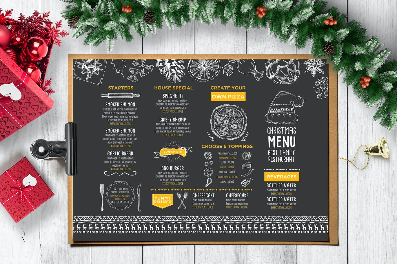 Christmas Menu Restaurant Template by BarcelonaDesignShop on Envato ...