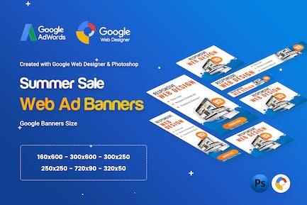 Web Design Banner Ad - GWD & PSD