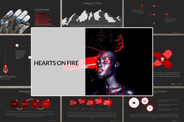 HEART ON FIRE Google Slides