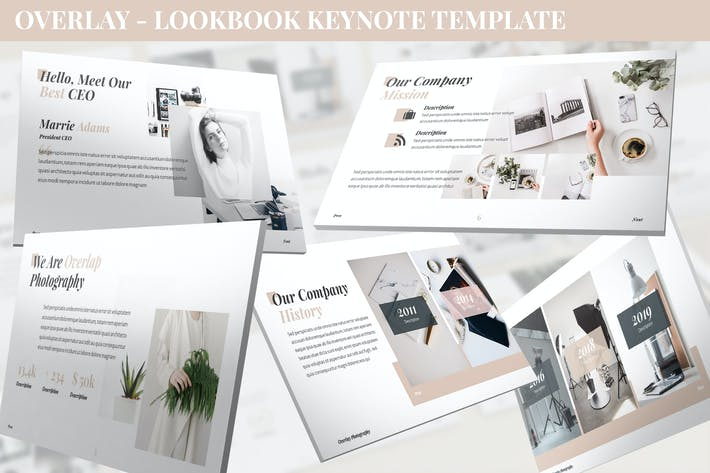 Thumbnail for Overlay - Lookbook Keynote Template