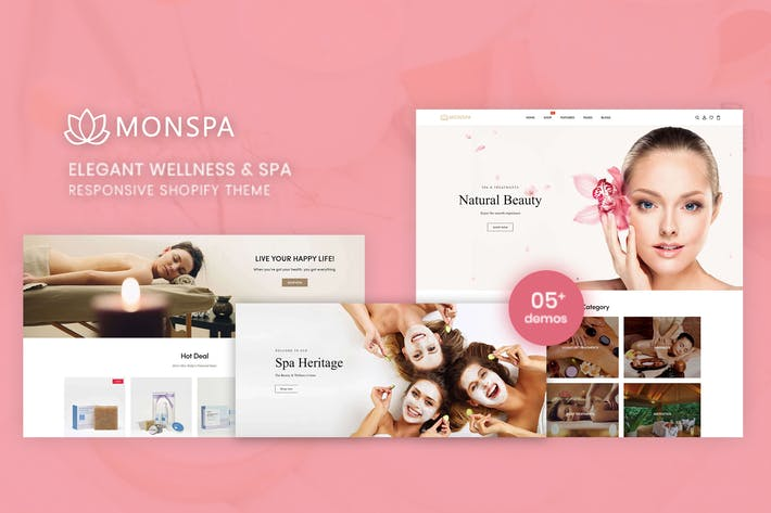 Thumbnail for Monspa - Elegant Wellness & Spa Shopify Theme