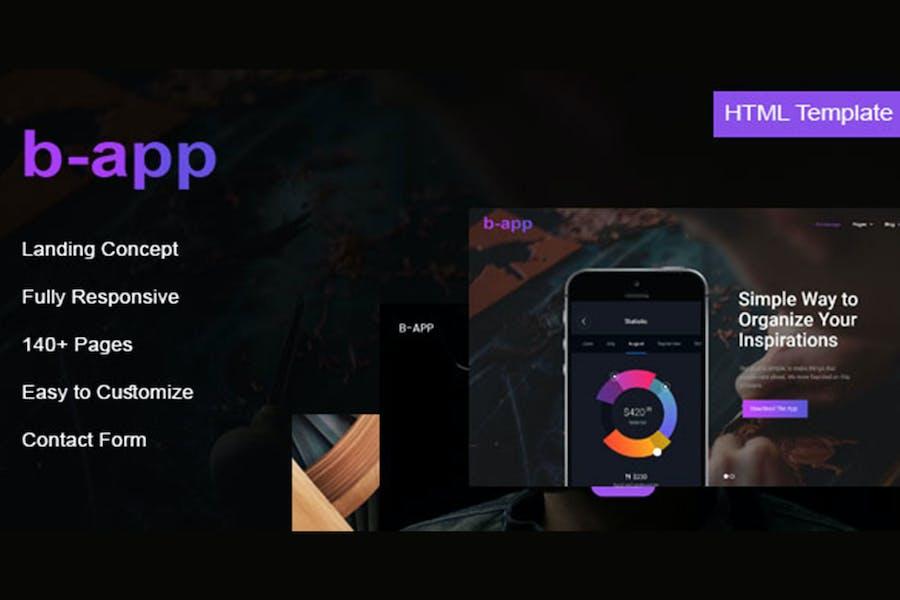 B-app - Landing HTML-Vorlage