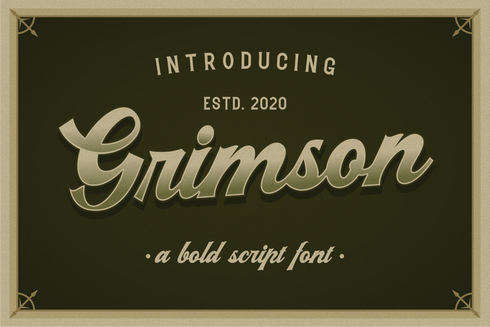 Thumbnail for Grimson Vintage Script negrita