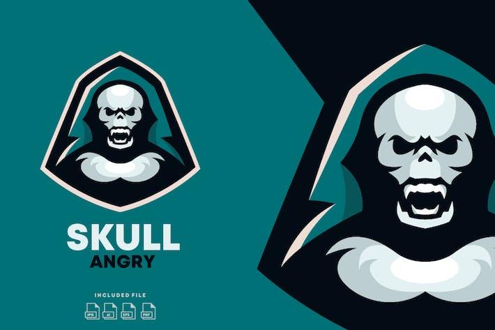 Thumbnail for Skull E-Sport Logo Design