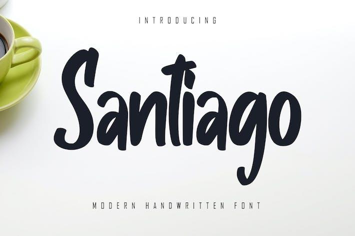 Thumbnail for Santiago - Police manuscrite moderne