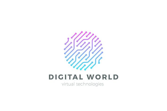 Thumbnail for Digital World Global Network Logo Circle Chip