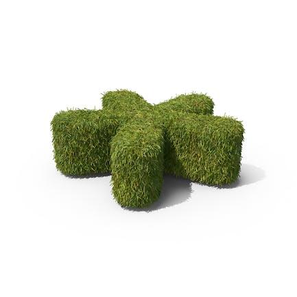Gras-Symbol auf dem Boden