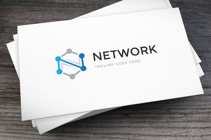 Thumbnail for Network Letter N Logo Template