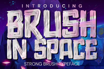 AN Brush in Space - comical Rough font