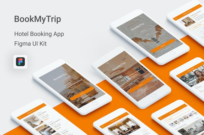 BookMyTrip - Hotel Booking UI Kit for Figma by themepassion on
