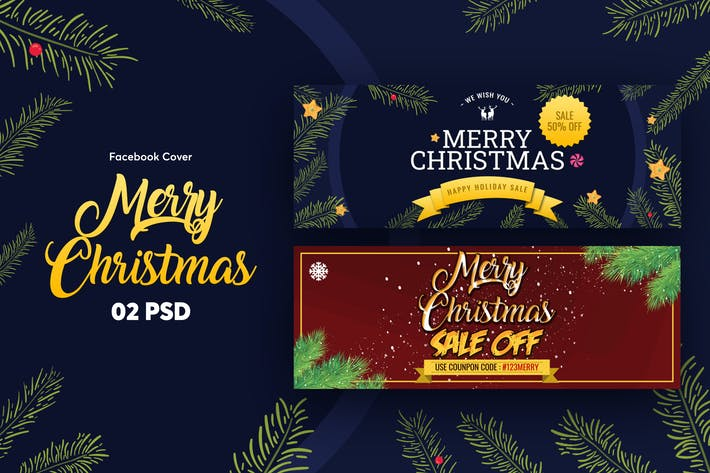 Thumbnail for Merry Christmas Facebook Cover